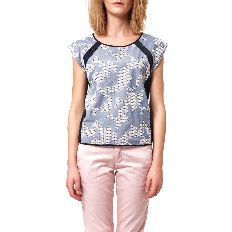 G-STAR RAW - Γυναικεία μπλούζα G-Star Raw γαλάζια γυναικεία ρούχα μπλούζες τοπ