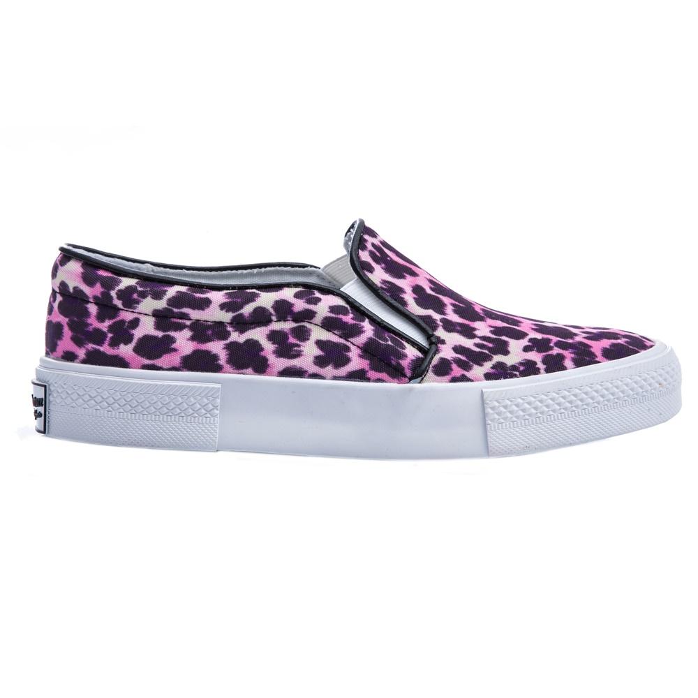 JUICY COUTURE – Γυναικεία slip-on παπούτσια Juicy Couture ροζ-μαύρα