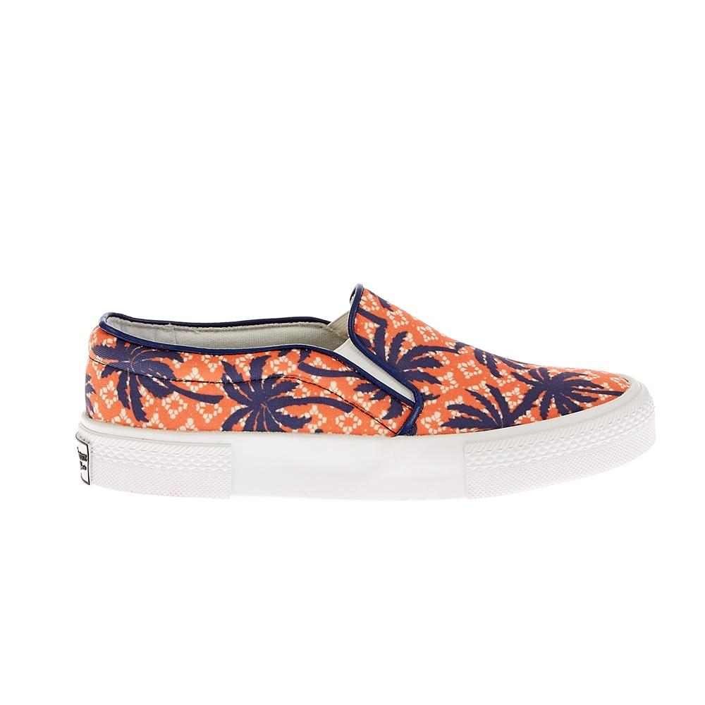 JUICY COUTURE - Γυναικεία παπούτσια Juicy Couture πορτοκαλί-μπλε γυναικεία παπούτσια μοκασίνια μπαλαρίνες μοκασίνια