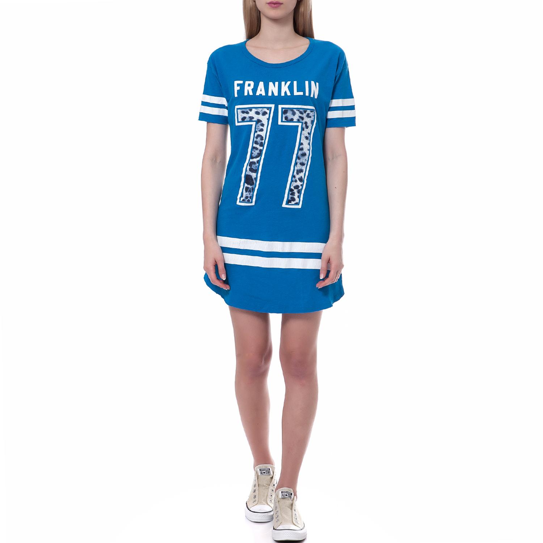 FRANKLIN & MARSHALL - Γυναικείο φόρεμα Franklin & Marshall μπλε γυναικεία ρούχα φορέματα μίνι