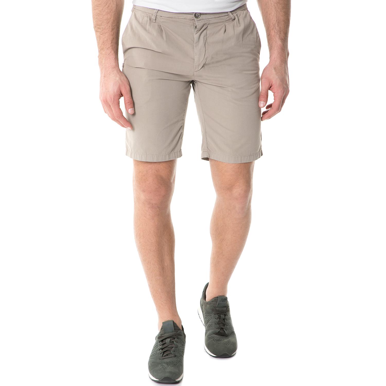 40-WEFT - Ανδρική βερμούδα 40-WEFT MATIE COMPACT TWILL μπεζ ανδρικά ρούχα σορτς βερμούδες casual jean