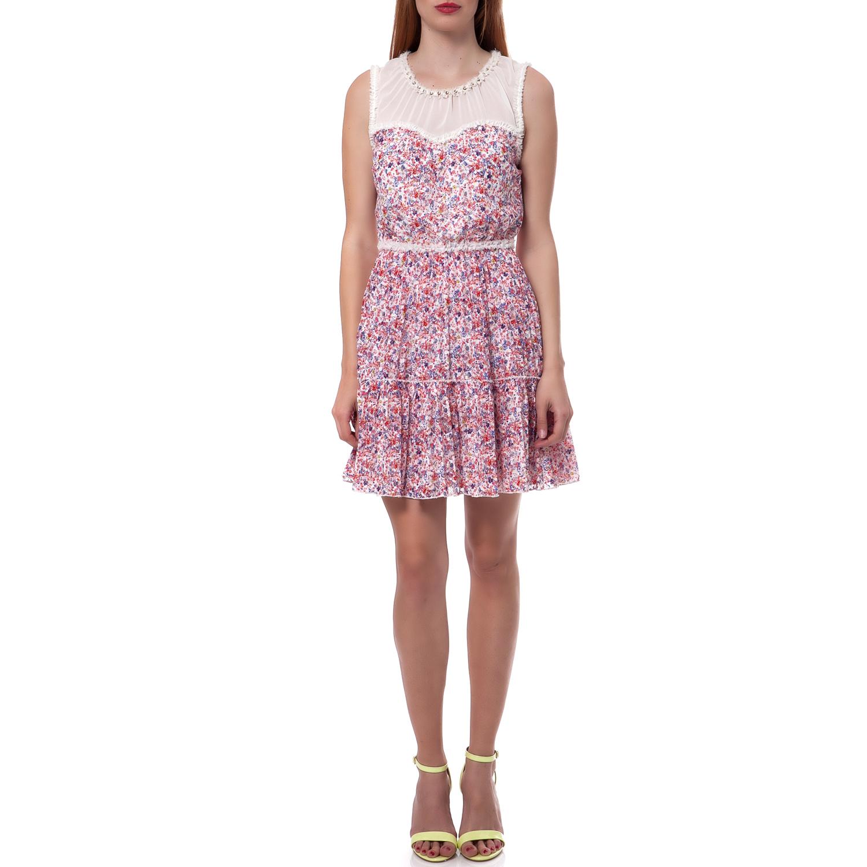 JUICY COUTURE - Γυναικείο φόρεμα Juicy Couture λευκό-ροζ γυναικεία ρούχα φορέματα μίνι