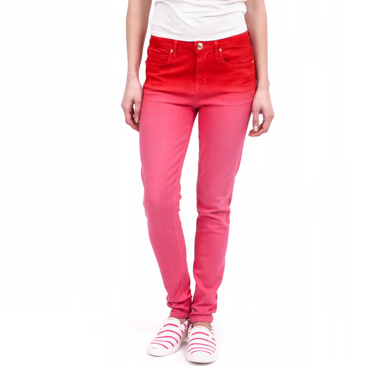 JUICY COUTURE - Γυναικείο παντελόνι Juicy Couture κόκκινο γυναικεία ρούχα παντελόνια skinny