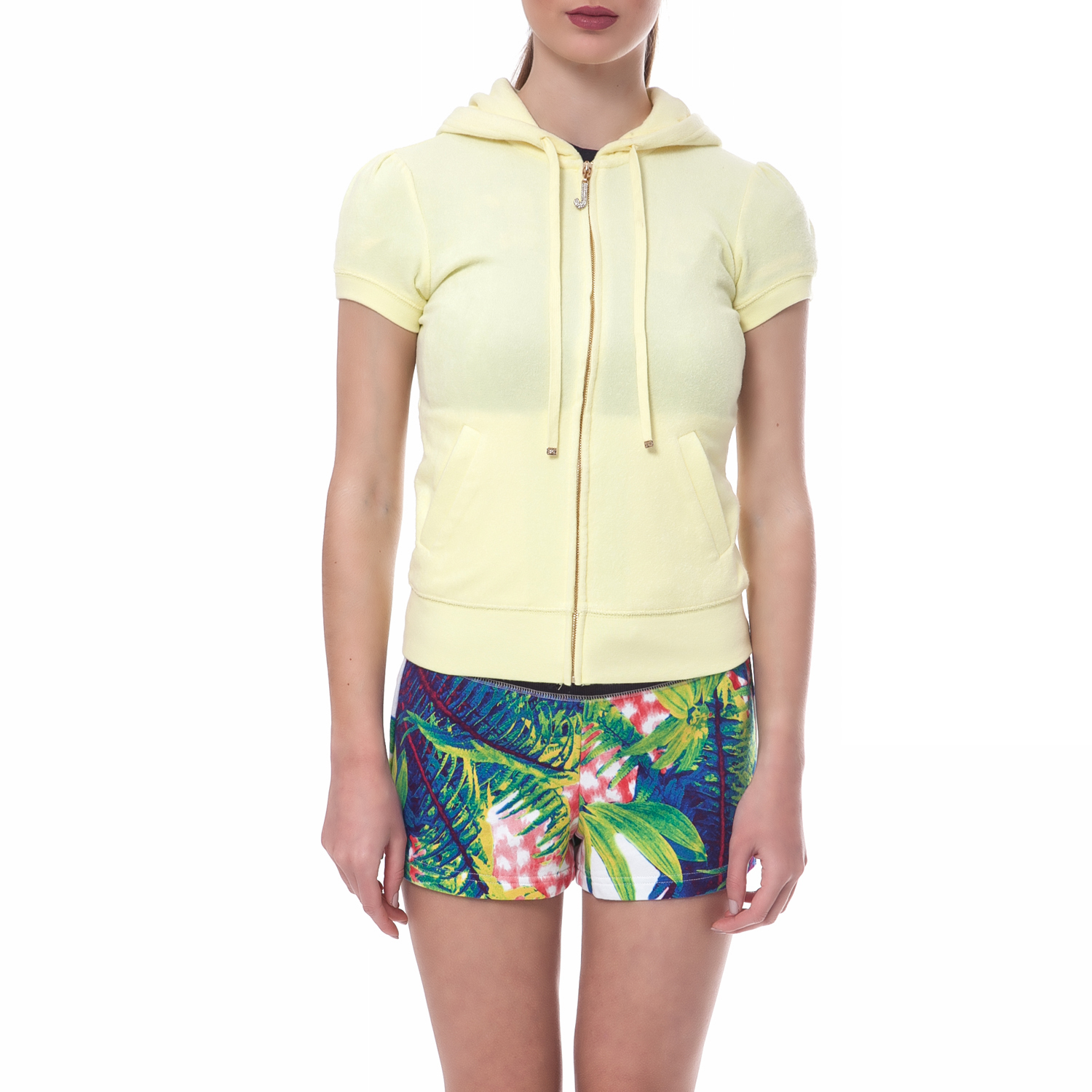 ab37f6b3a684 JUICY COUTURE - Γυναικεία ζακέτα Juicy Couture κίτρινη