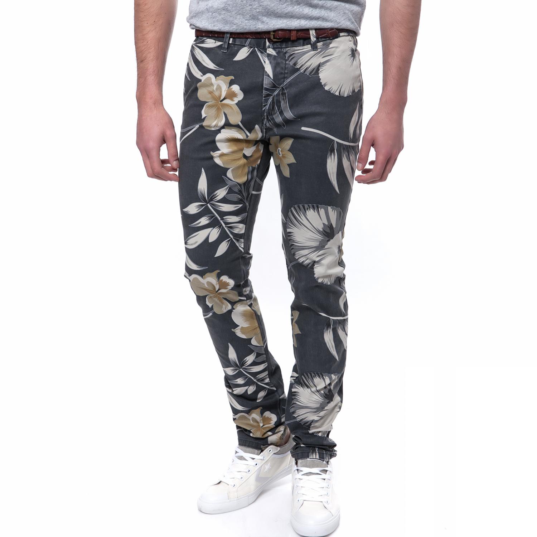 SCOTCH & SODA - Ανδρικό παντελόνι Scotch & Soda καφέ-γκρι ανδρικά ρούχα παντελόνια chinos