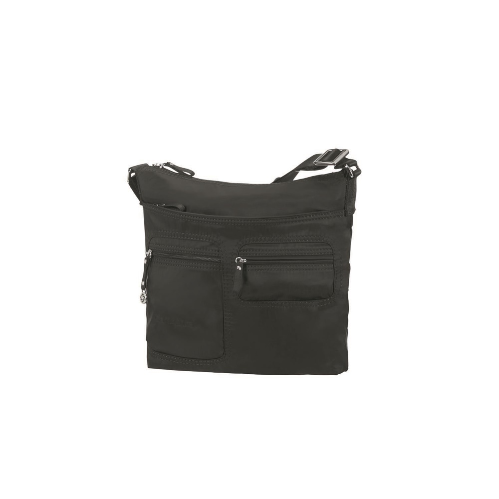 SAMSONITE - Γυναικεία τσάντα ώμου FLAT SHOULDER BAG IPAD μαύρη γυναικεία αξεσουάρ τσάντες σακίδια ταξιδίου