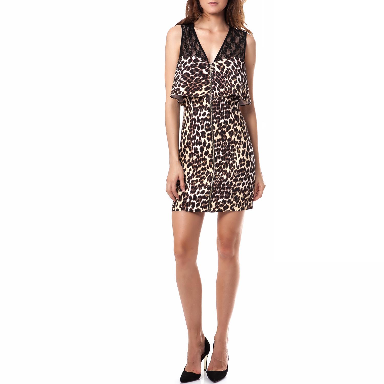 GUESS - Γυναικείο φόρεμα Guess καφέ ccc990ce0ce
