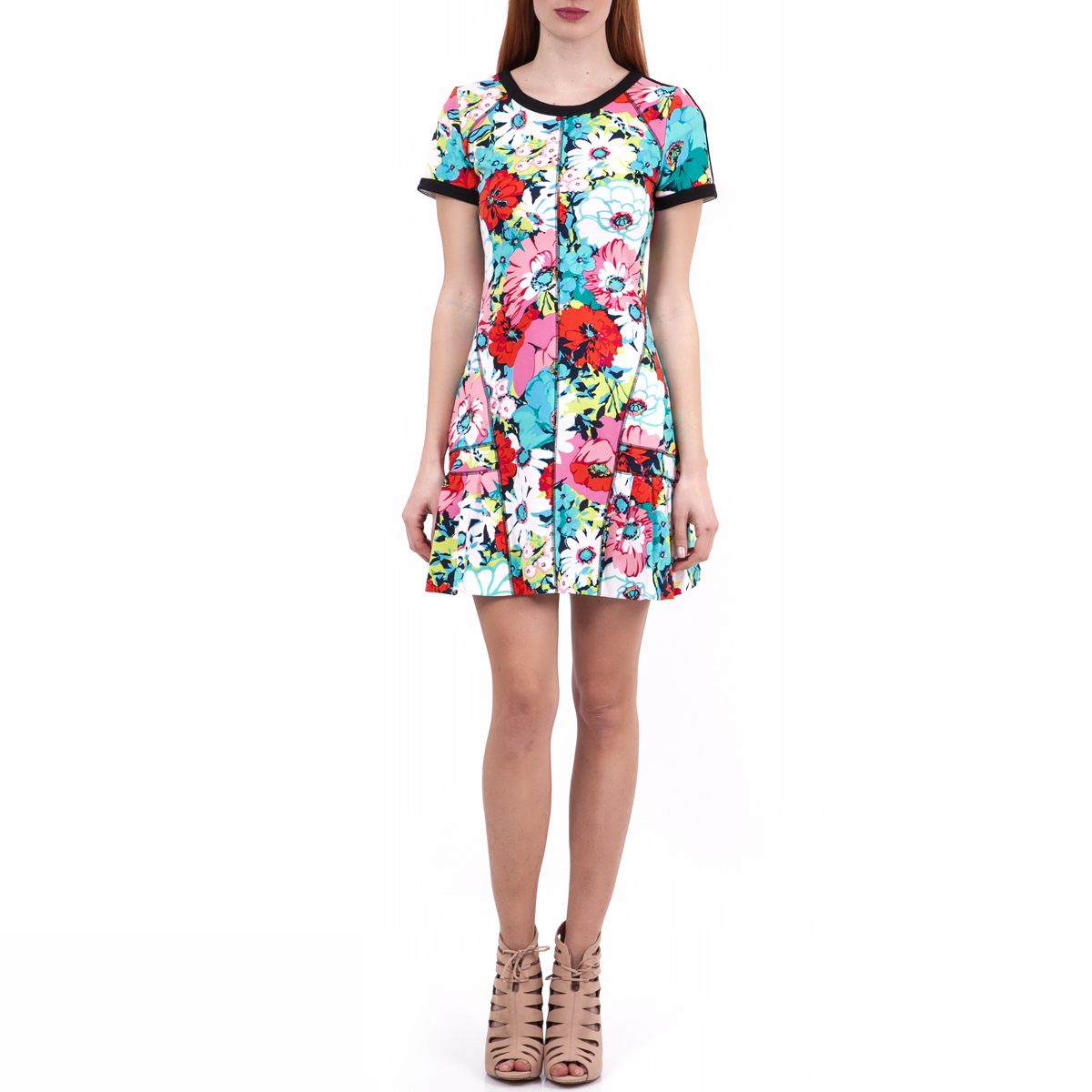 JUICY COUTURE - Γυναικείο φόρεμα Juicy Couture γαλάζιο-κόκκινο γυναικεία ρούχα φορέματα μίνι