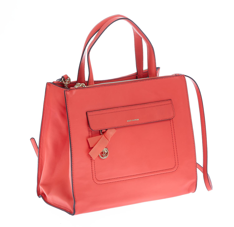 JUICY COUTURE - Γυναικεία τσάντα Juicy Couture κοραλί γυναικεία αξεσουάρ τσάντες σακίδια χειρός