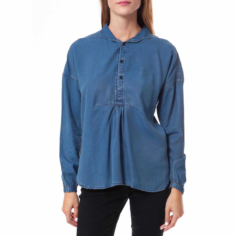 SCOTCH & SODA - Γυναικεία ντένιμ πουκαμίσα SCOTCH & SODA μπλε γυναικεία ρούχα πουκάμισα πουκαμίσες
