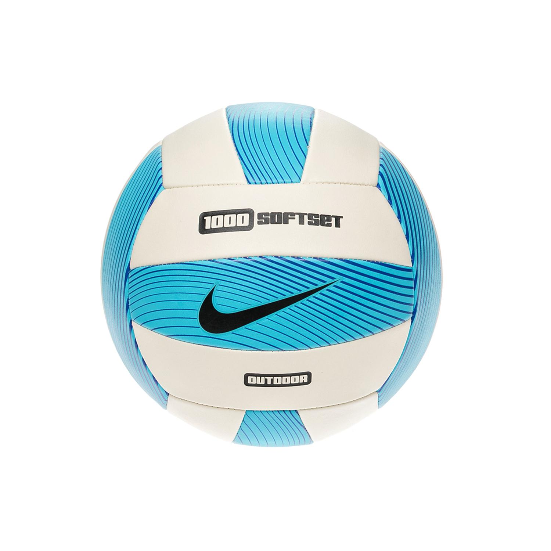 NIKE - Μπάλα βόλεϊ NIKE 1000 SOFTSET OUTDOOR άσπρη-μπλε ανδρικά αξεσουάρ αθλητικά είδη μπάλες