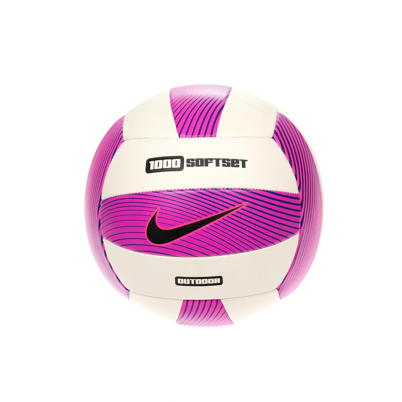 NIKE - Μπάλα βόλεϊ NIKE 1000 SOFTSET OUTDOOR άσπρη-ροζ ανδρικά αξεσουάρ αθλητικά είδη μπάλες