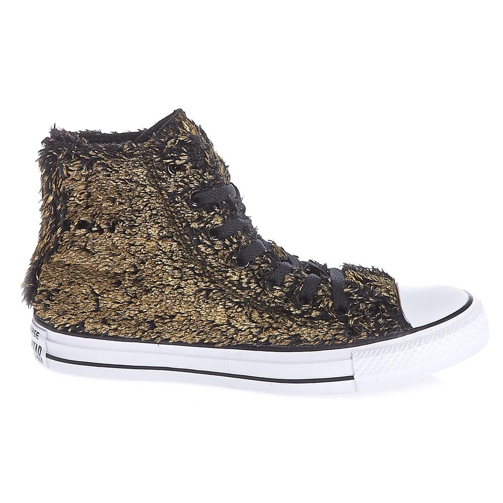 CONVERSE – Γυναικεία παπούτσια Chuck Taylor All Star Material μαύρα-χρυσά