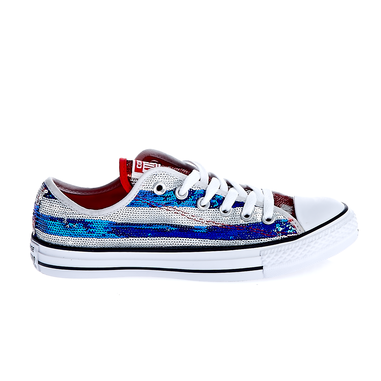 CONVERSE – Γυναικεία παπούτσια Chuck Taylor All Star Sequin O γκρι-μπλε