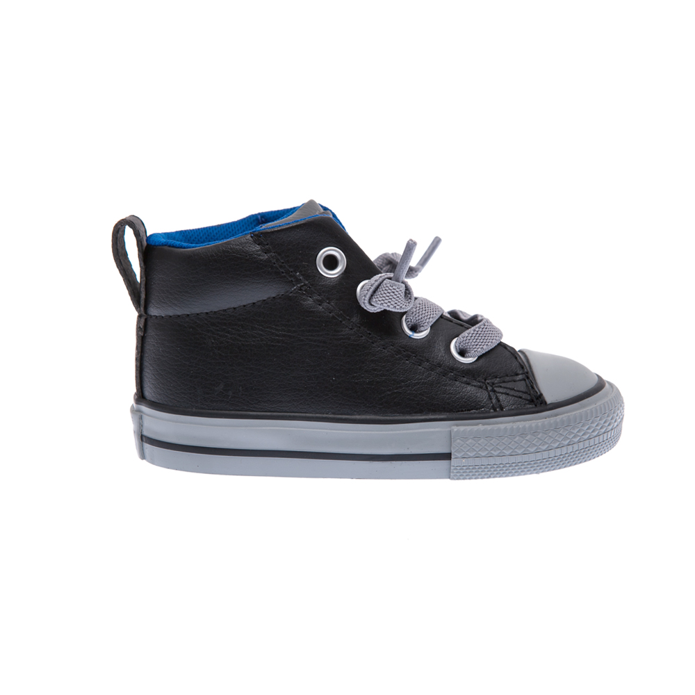 CONVERSE – Βρεφικά παπούτσια Chuck Taylor All Star Street μαύρα-γκρι
