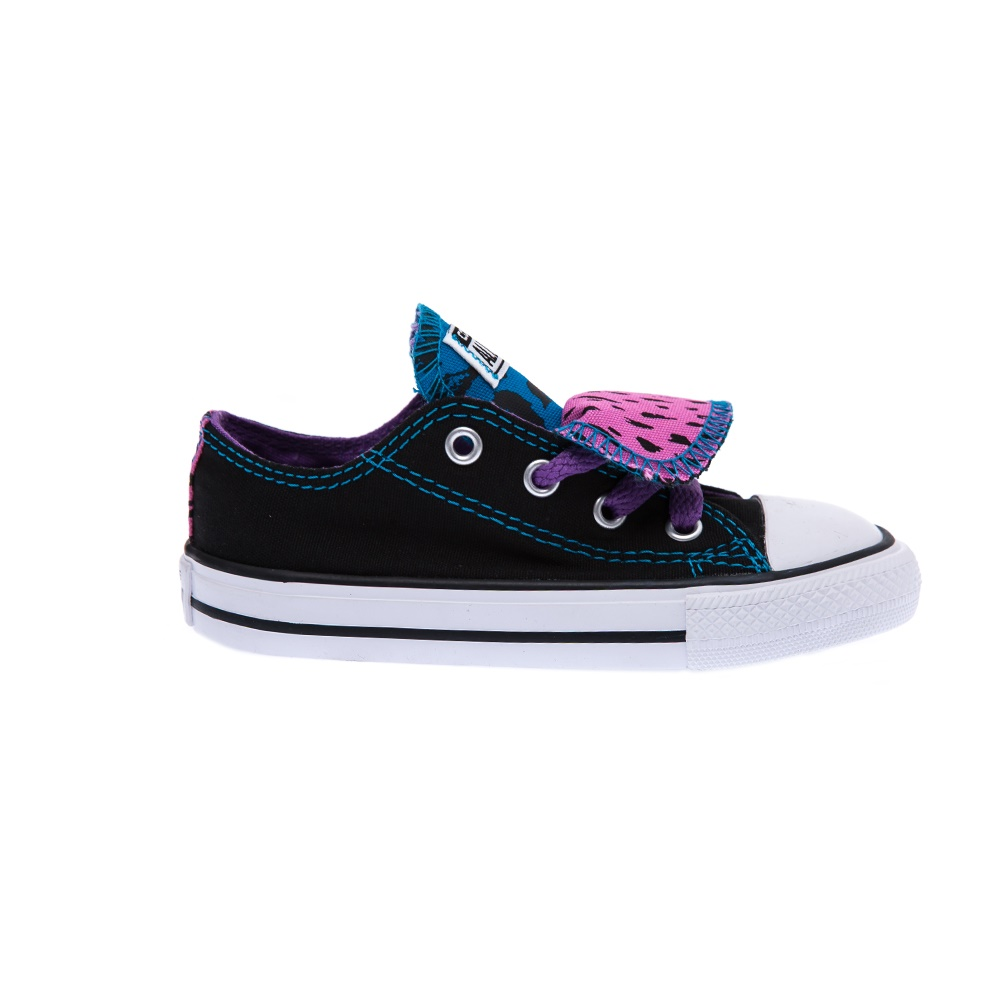 CONVERSE – Βρεφικά παπούτσια Chuck Taylor All Star Double μαύρα