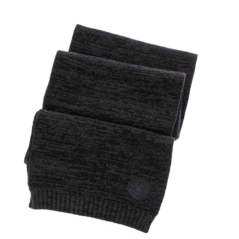 CONVERSE - Unisex κασκόλ Converse γκρι-μαύρο γυναικεία αξεσουάρ φουλάρια κασκόλ γάντια