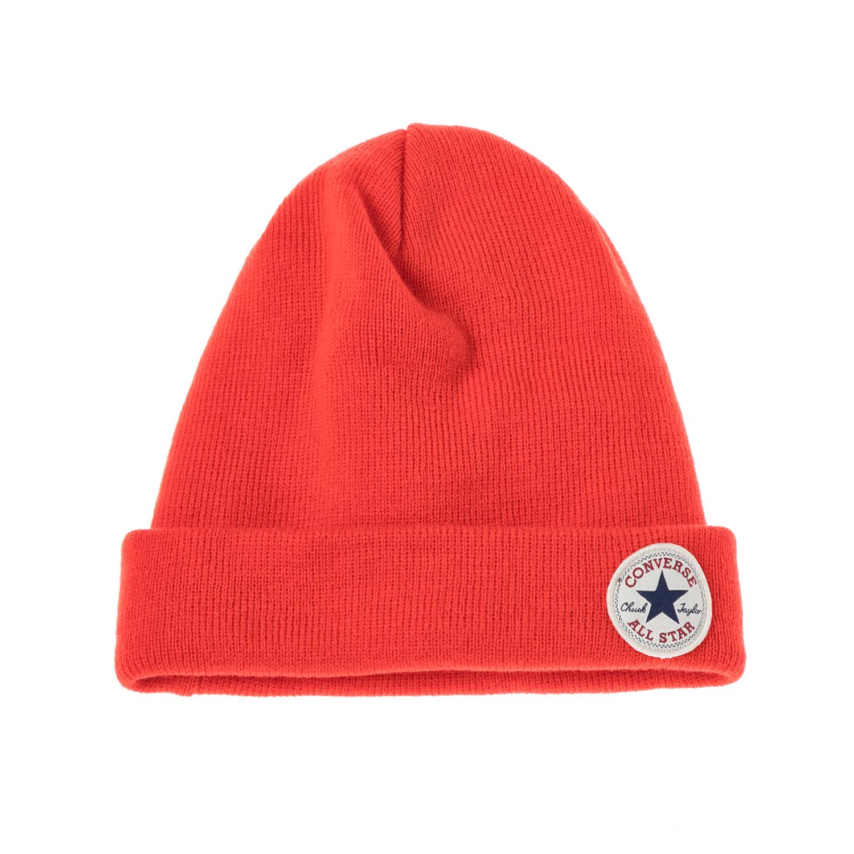 CONVERSE - Unisex σκούφος CONVERSE κόκκινος γυναικεία αξεσουάρ καπέλα σκούφοι