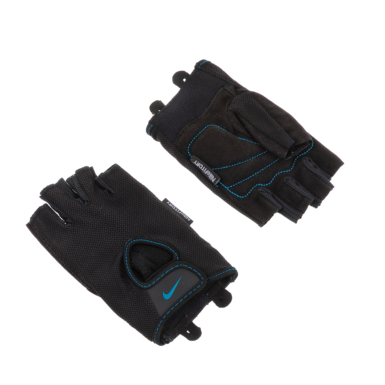 NIKE - Γυναικεία γάντια προπόνησης N.LG.90.XS WOMENS FUNDAMENTAL FITNESS μαύρα γυναικεία αξεσουάρ αθλητικά είδη εξοπλισμός