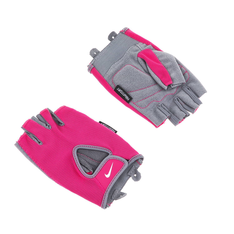 NIKE - Γυναικεία γάντια προπόνησης N.LG.90.XS WOMENS FUNDAMENTAL FITNESS GLO γκρ γυναικεία αξεσουάρ αθλητικά είδη εξοπλισμός