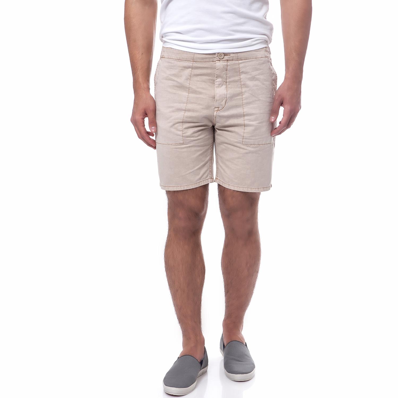 CALVIN KLEIN JEANS - Ανδρική βερμούδα Calvin Klein Jeans μπεζ ανδρικά ρούχα σορτς βερμούδες casual jean