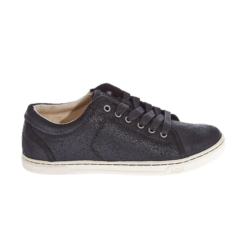 UGG – Γυναικεία δερμάτινα παπούτσια UGG μαύρα