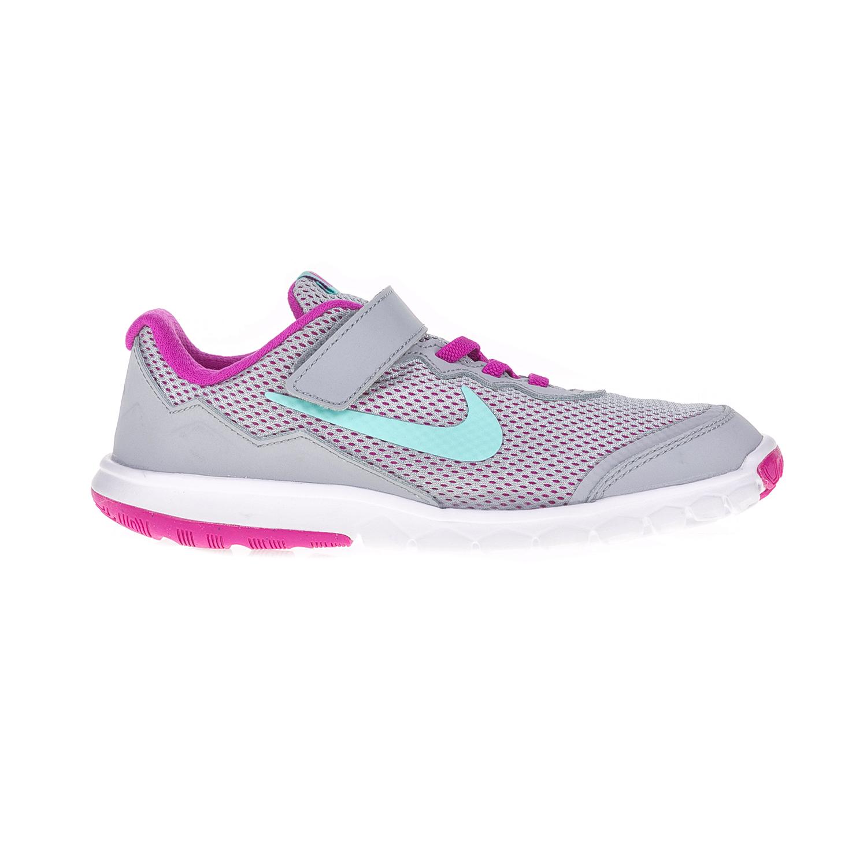 NIKE – Παιδικά αθλητικά παπούτσια NIKE FLEX EXPERIENCE 4 (PSV) γκρι – μοβ