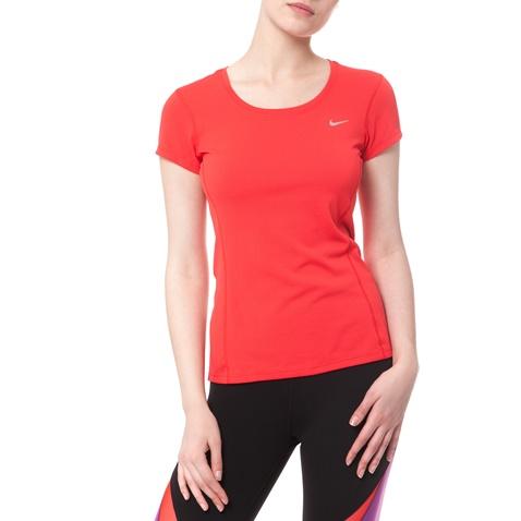 Γυναικείο t-shirt Nike DRI-FIT CONTOUR κόκκινο (1403751.1-q3y1 ... 38ffe1fb10e