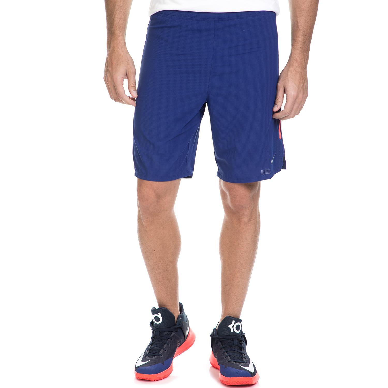 "NIKE - Ανδρικό αθλητικό σορτς ΝΙΚΕ 9"" PHENOM 2-IN-1 μπλε ανδρικά ρούχα σορτς βερμούδες αθλητικά"