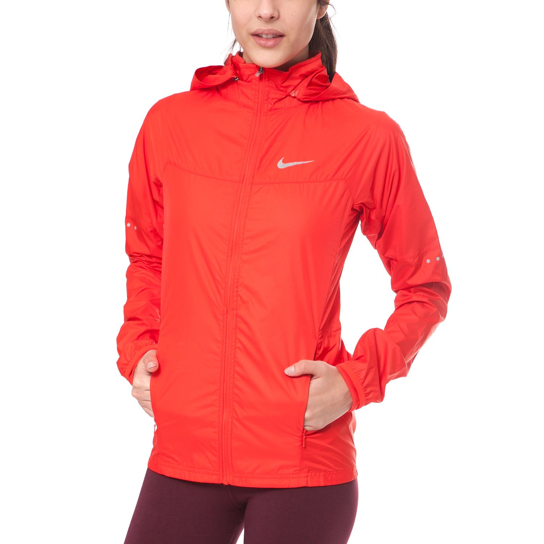 NIKE - Γυναικείο αντιανεμικό μπουφάν NIKE VAPOR JACKET κόκκινο γυναικεία ρούχα πανωφόρια μπουφάν