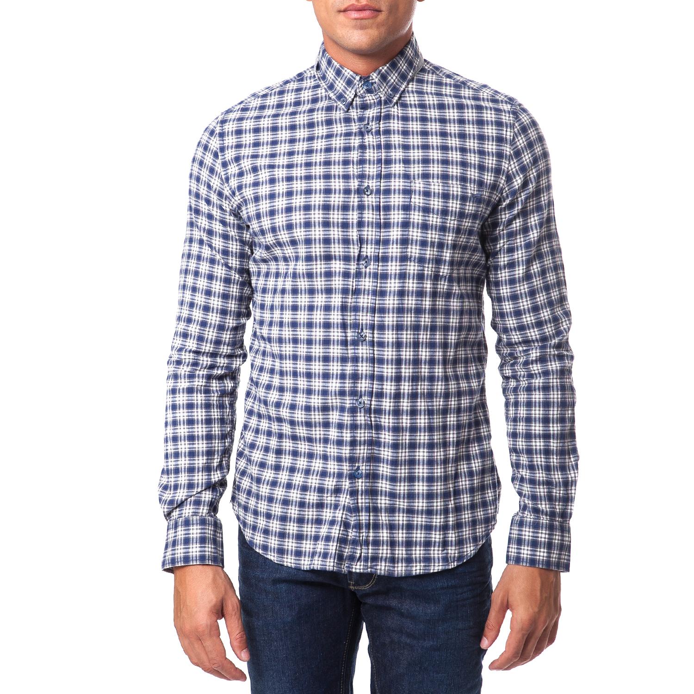 GAS - Ανδρικό πουκάμισο Gas μπλε accfc2c2f8a