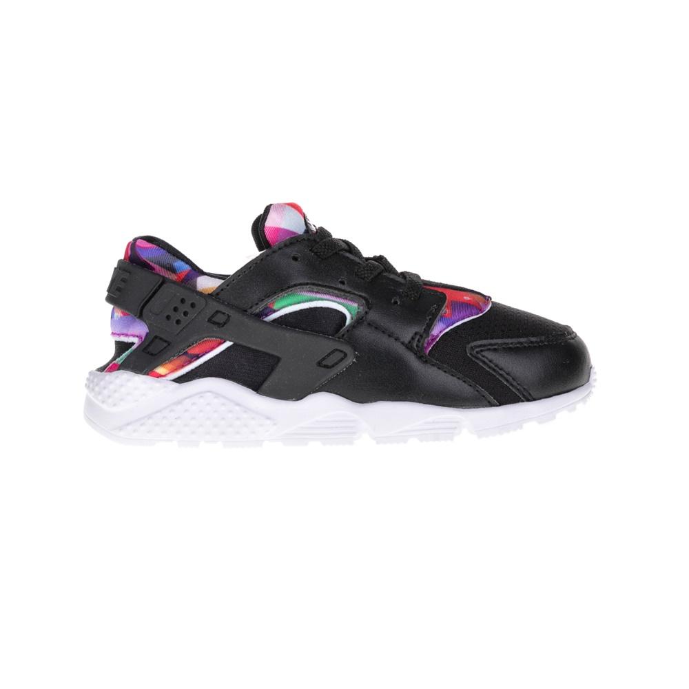 NIKE – Παιδικά παπούτσια NIKE HUARACHE RUN PRINT μαύρα