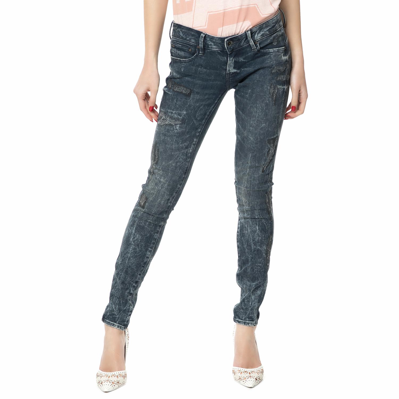 91c12145db G-STAR RAW – Γυναικείο τζιν παντελόνι Midge Zip Low-Rise Super Skinny μπλε