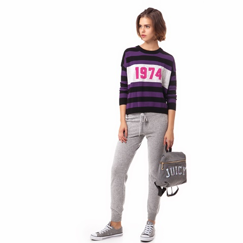 JUICY COUTURE-Γυναικείο πουλόβερ Juicy Couture μωβ-μαύρο