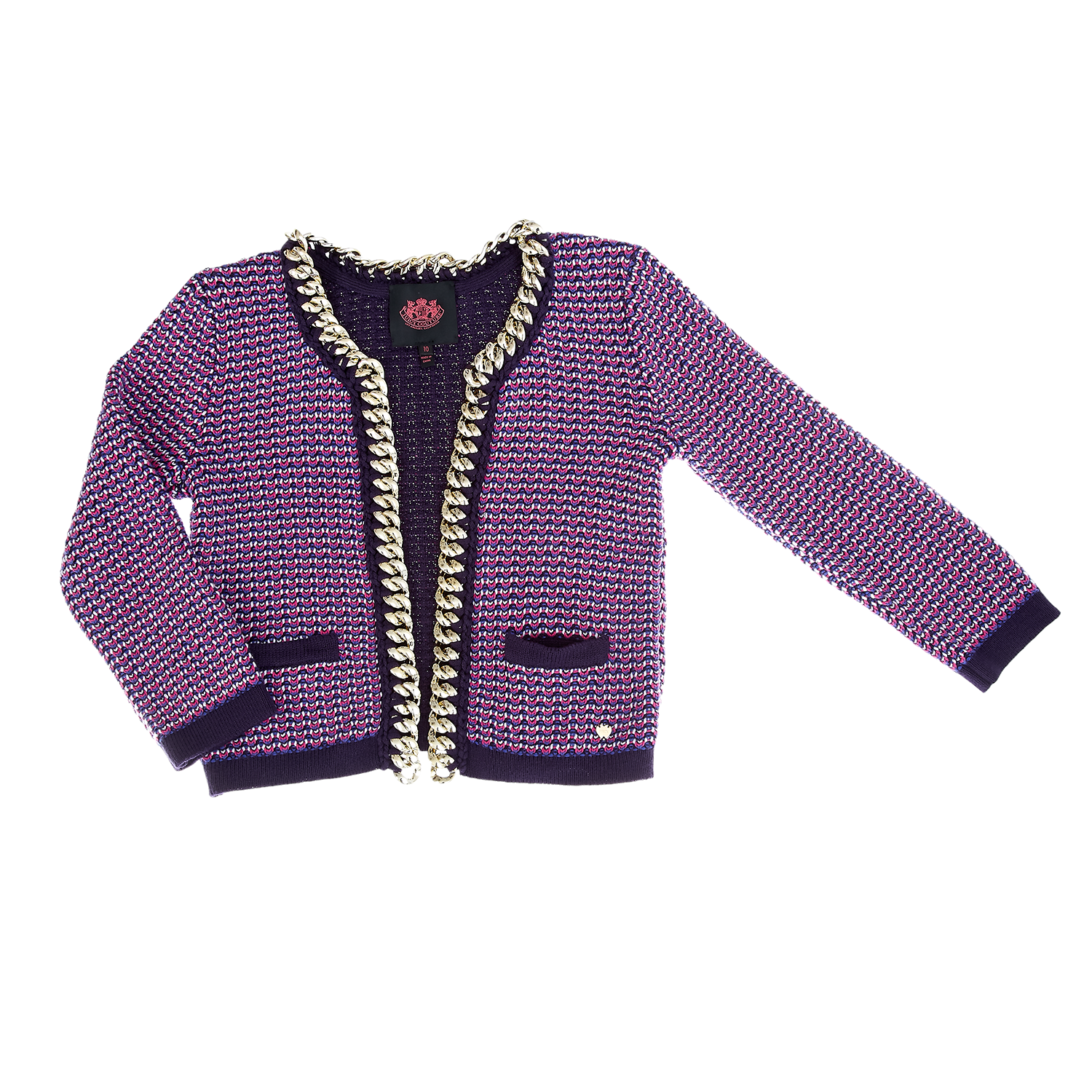 64f94a0a3ee JUICY COUTURE KIDS - Παιδική ζακέτα Juicy Couture μωβ ⋆ OaFashion.gr