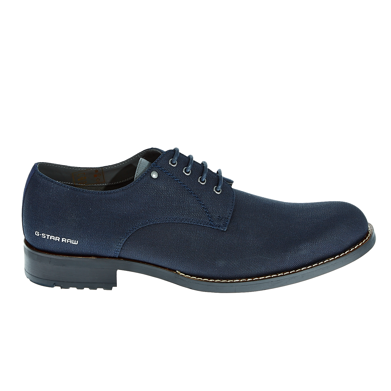 "G-STAR RAW - Ανδρικά δετά παπούτσια ""Manor Dryden Denim"" μπλε ανδρικά παπούτσια δετά επίσημα"