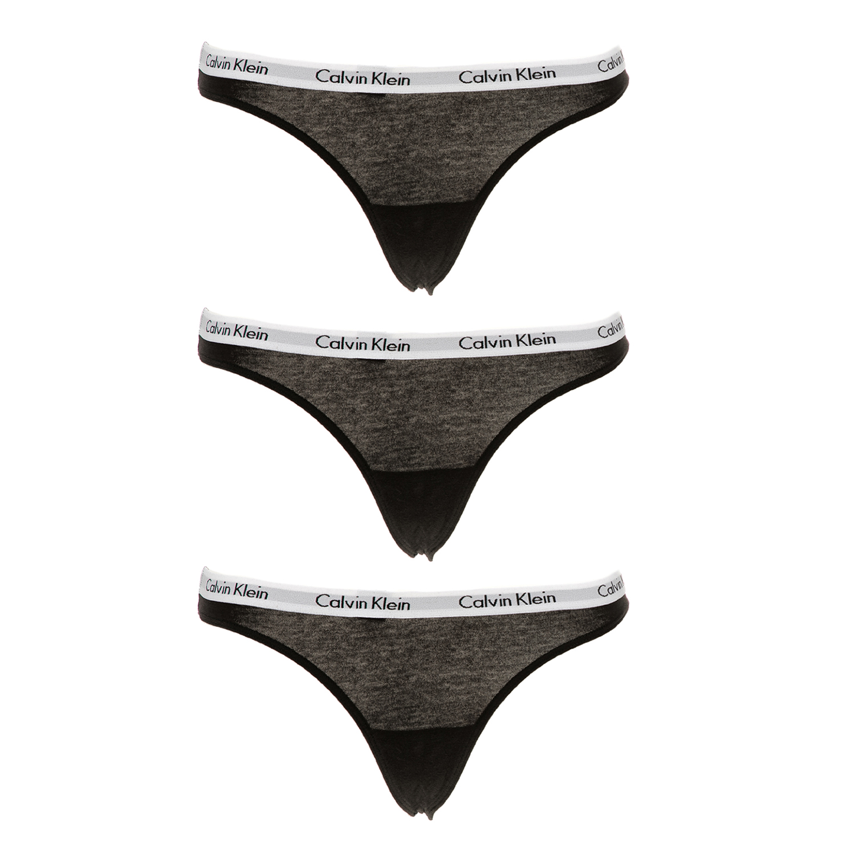 CK UNDERWEAR - Σετ από 3 thong σλιπ CK UNDERWEAR μαύρα γυναικεία ρούχα εσώρουχα σλιπ
