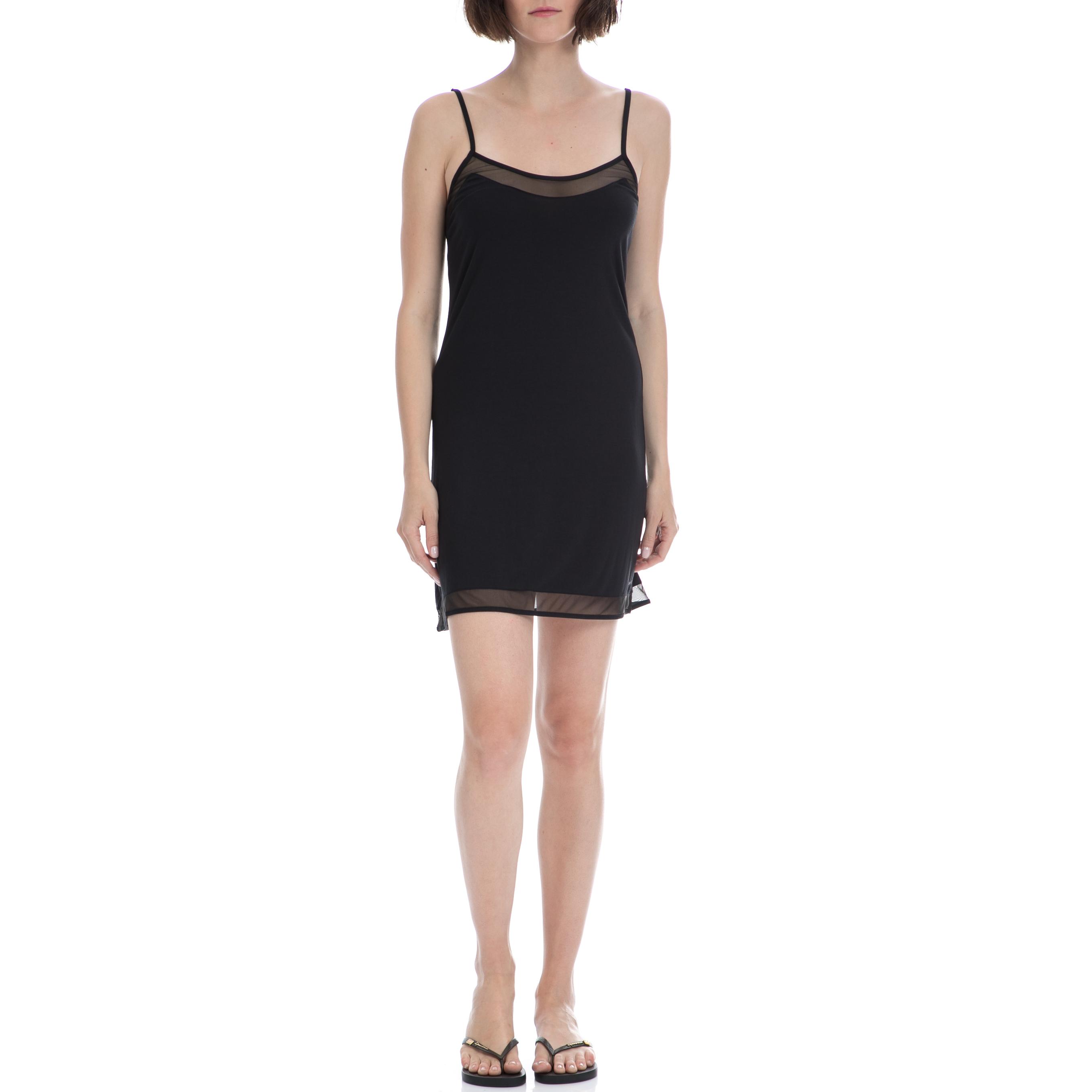 CK UNDERWEAR – Γυναικείο νυχτικό Calvin Klein μαύρο 94cc4b6bc98