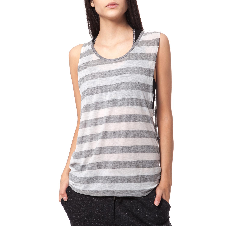 SCOTCH & SODA - Γυναικεία μπλούζα Maison Scotch γκρι γυναικεία ρούχα μπλούζες αμάνικες