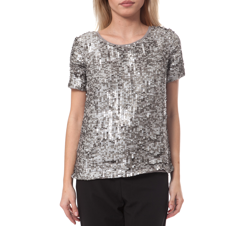 SCOTCH & SODA - Γυναικεία μπλούζα SCOTCH & SODA ασημί γυναικεία ρούχα μπλούζες τοπ