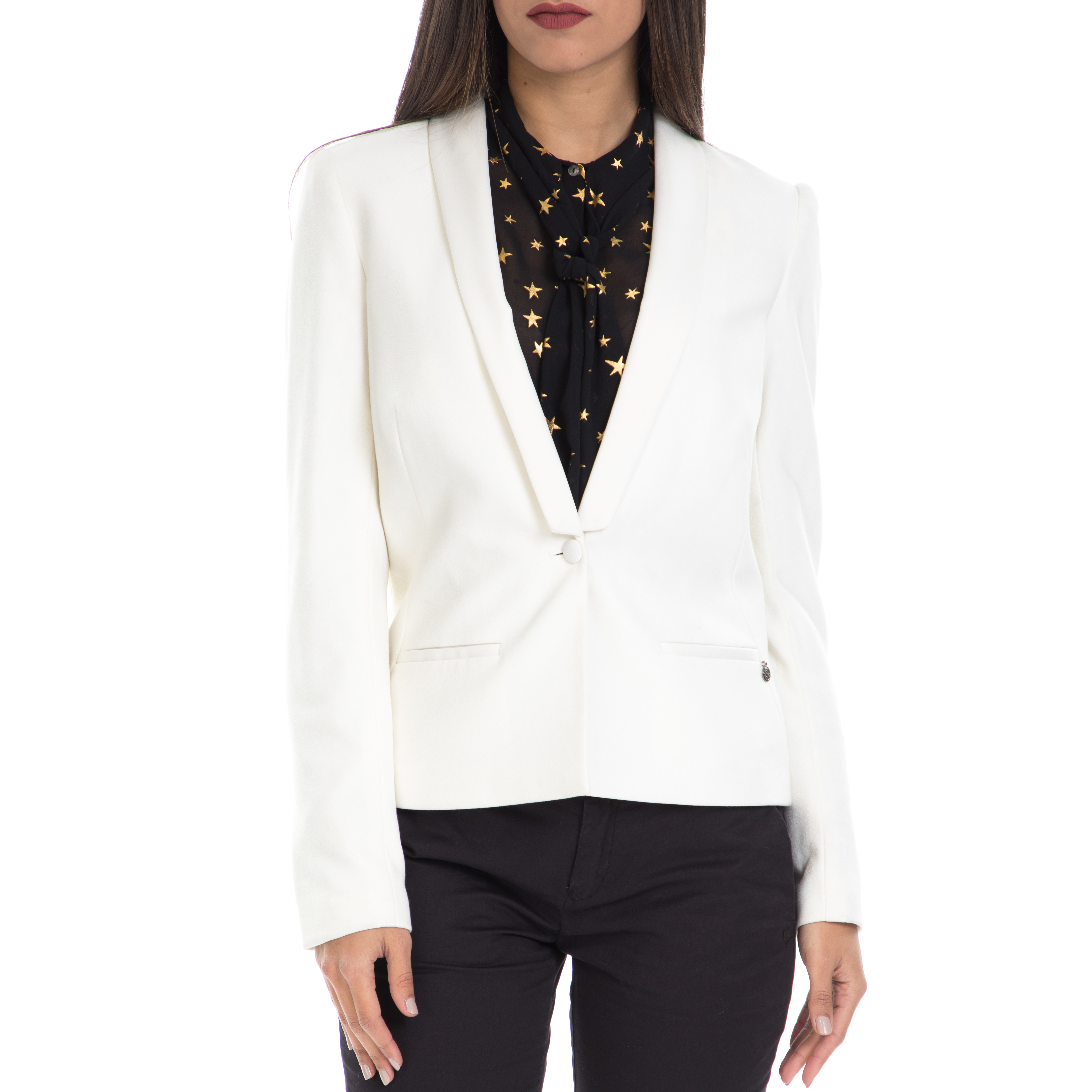 SCOTCH & SODA - Γυναικείο σακάκι SCOTCH & SODA λευκό γυναικεία ρούχα πανωφόρια σακάκια