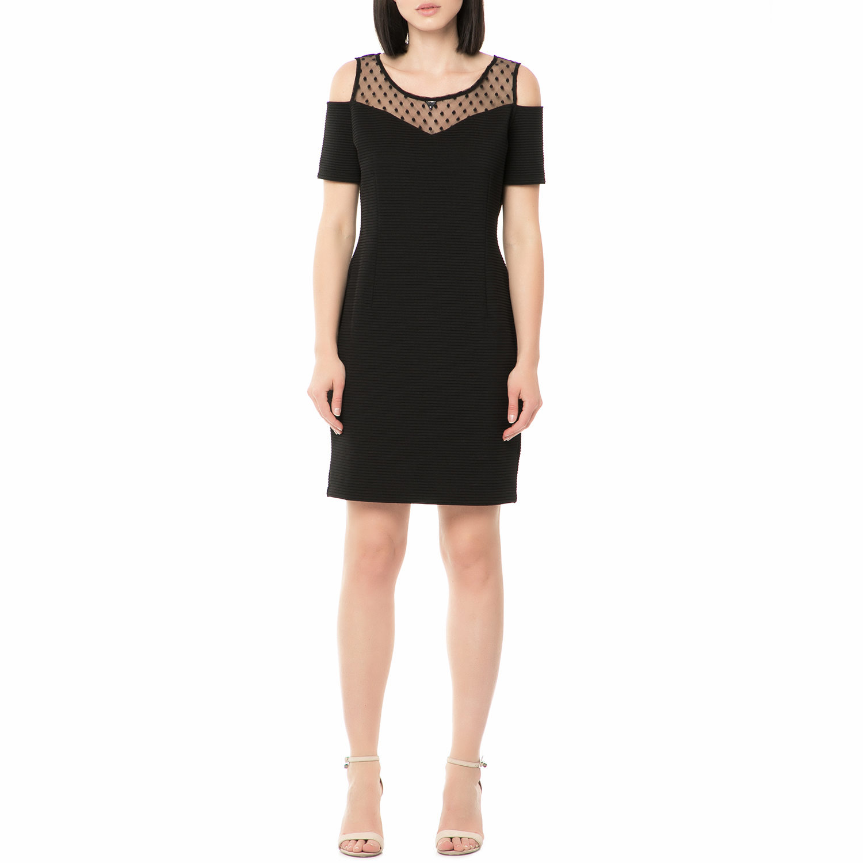 22b6a318aab6 GUESS - Γυναικείο μίνι φόρεμα BELINDA - STRIPE PONTE μαύρο