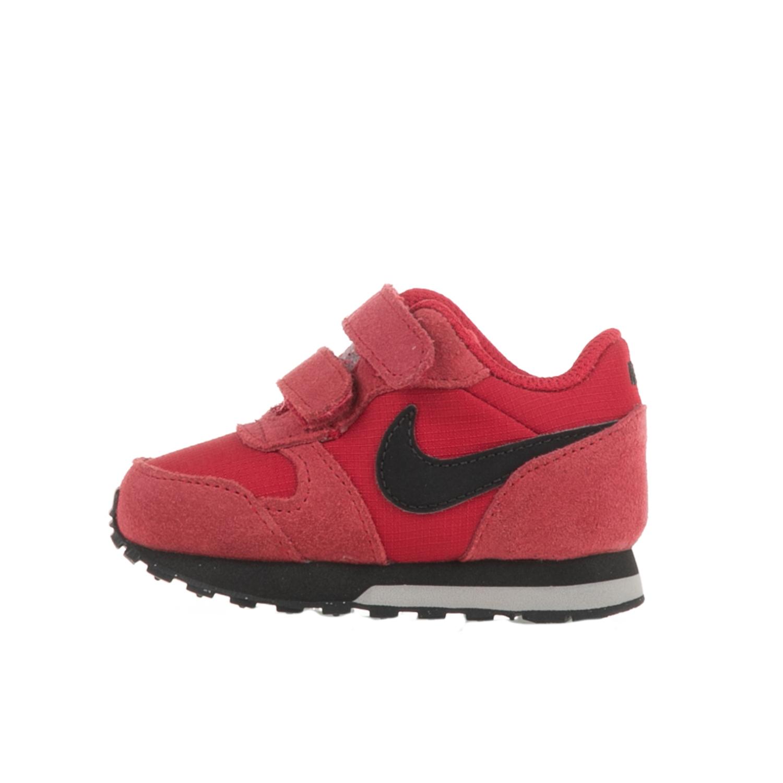 NIKE - Βρεφικά αθλητικά παπούτσια για νήπια NIKE MD RUNNER 2 κόκκινα - λευκά παιδικά baby παπούτσια αθλητικά