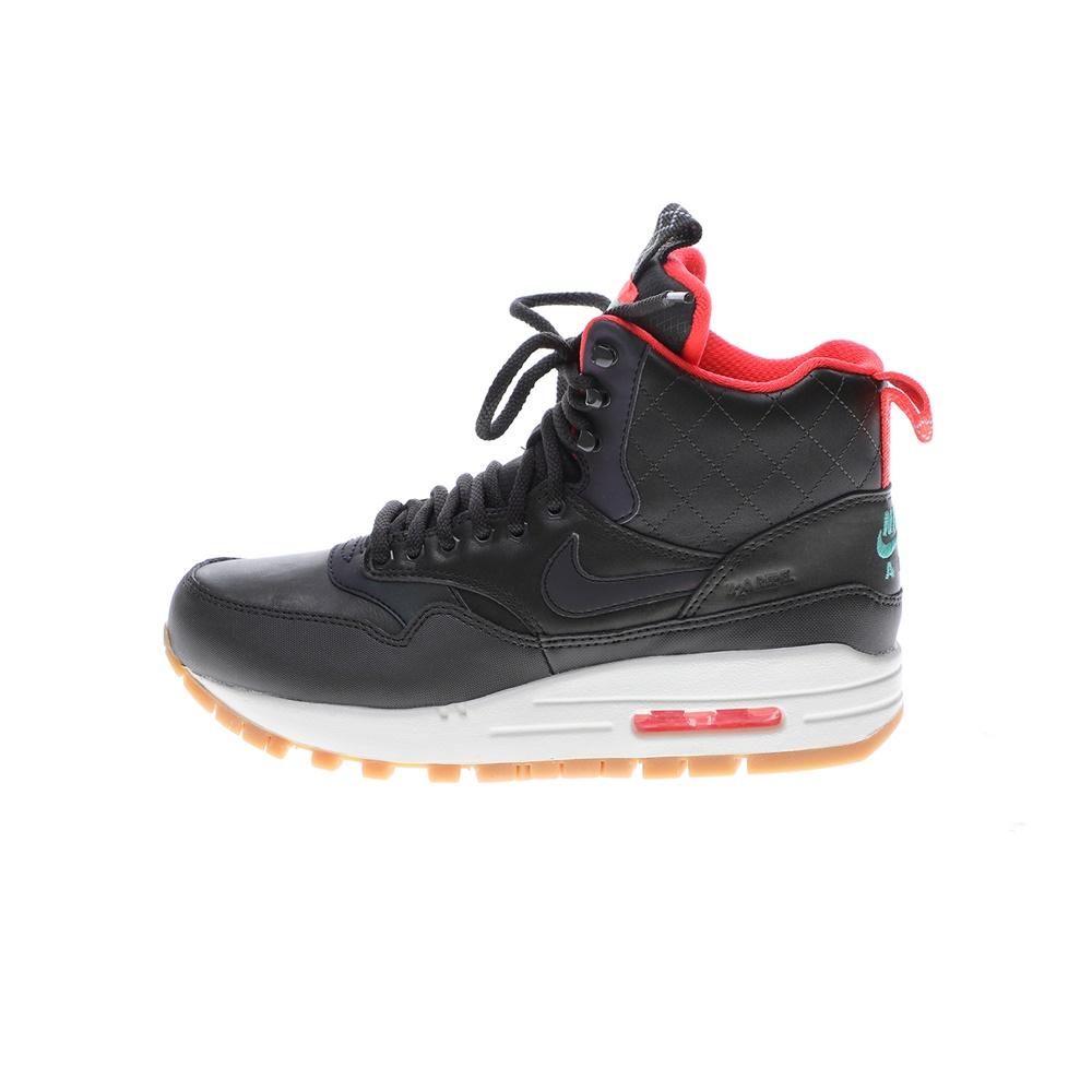 NIKE – Γυναικεία αθλητικά μποτάκια NIKE AIR MAX 1 MID SNKRBT RFLC μαύρα κόκκινα