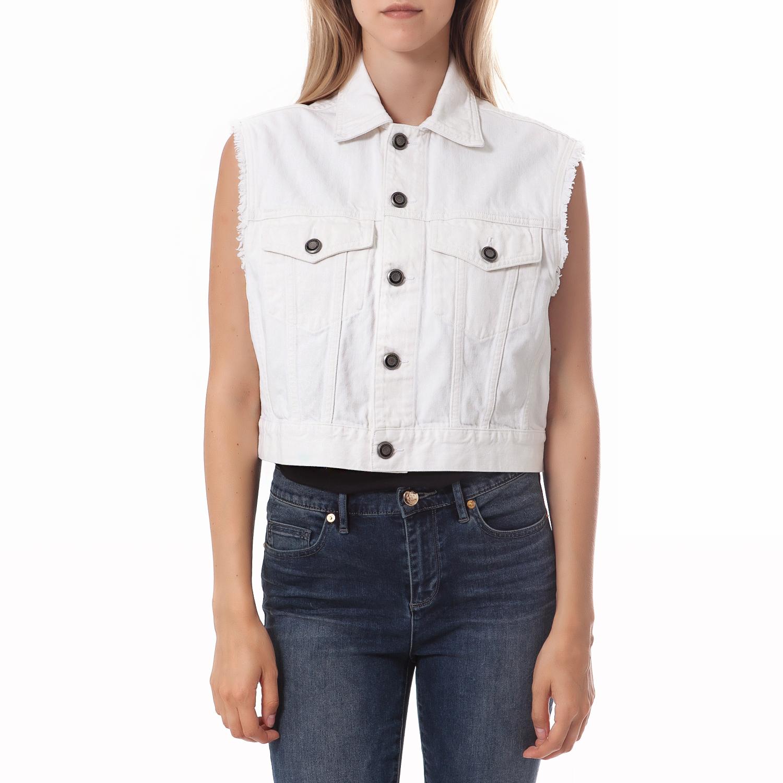 CALVIN KLEIN JEANS - Γυναικείο γιλέκο Calvin Klein Jeans λευκό γυναικεία ρούχα πανωφόρια μπουφάν