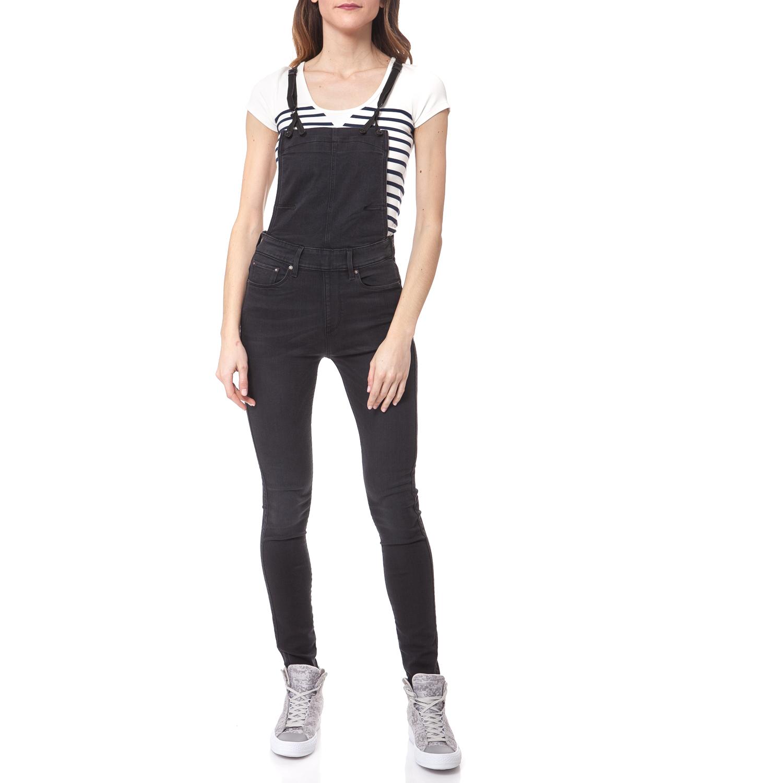 G-STAR - Ολόσωμη φόρμα G-STAR RAW μαύρη γυναικεία ρούχα ολόσωμες φόρμες