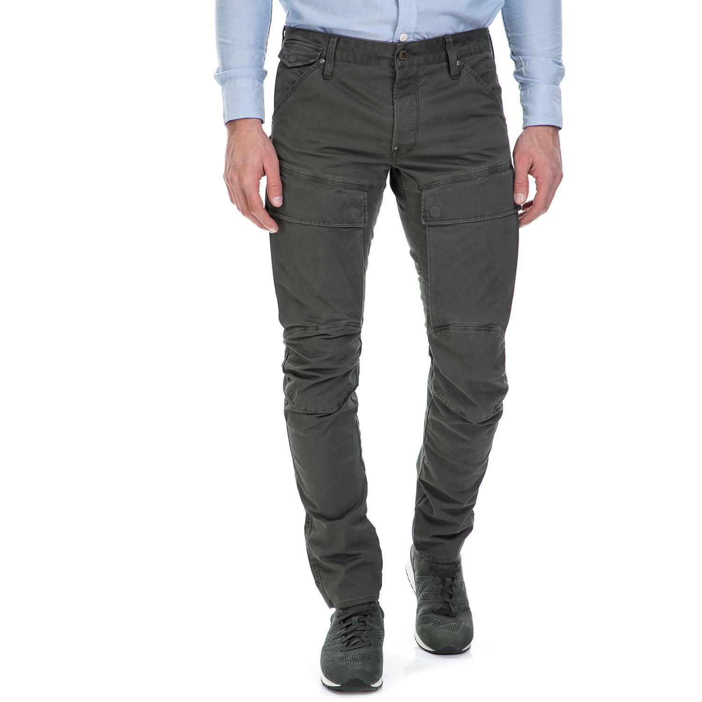 G-STAR RAW - Ανδρικό παντελόνι G-Star Raw Air Defence 5620 3D Slim χακί ανδρικά ρούχα παντελόνια cargo