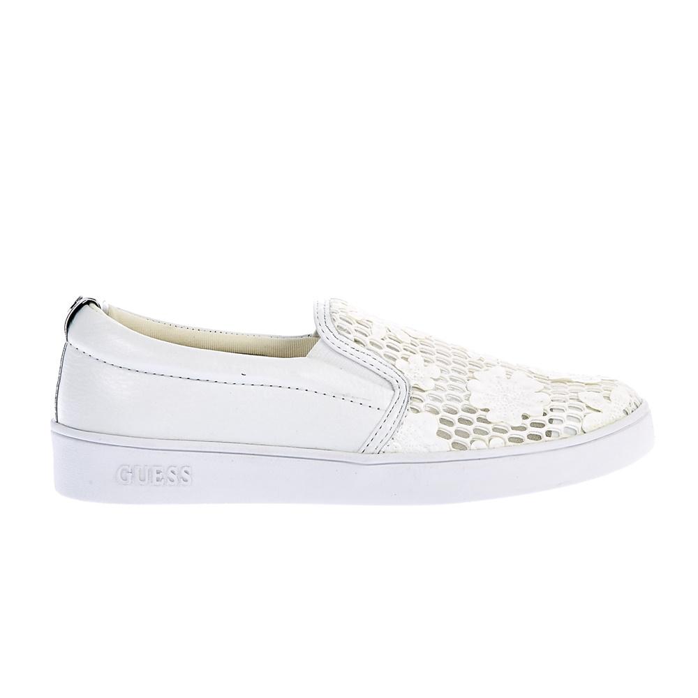 GUESS - Γυναικεία παπούτσια Guess λευκά γυναικεία παπούτσια μοκασίνια μπαλαρίνες μοκασίνια
