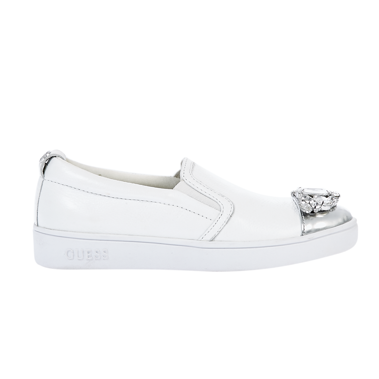 GUESS - Γυναικεία slip on παπούτσια Guess λευκά ⋆ EliteShoes.gr 8c480caa1eb