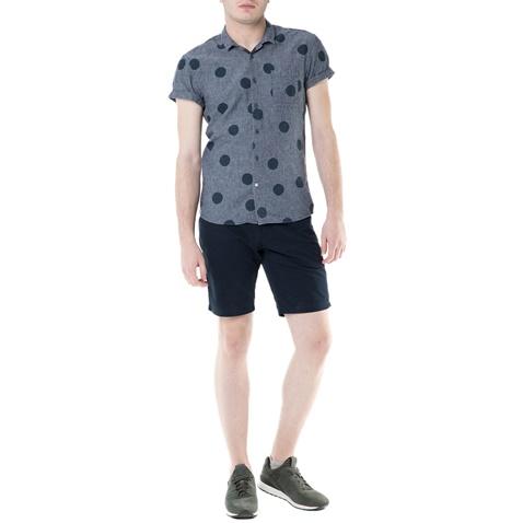 d937a12b6d59 Ανδρικό κοντομάνικο πουκάμισο Scotch   Soda γκρι πουά (1434274.0 ...